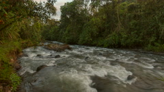 The Rio Mindo in the early morning time-lapse. Stock Footage