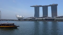 Central Business District in Singapore Stock Footage