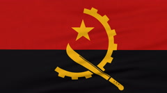 National flag of Angola flying on the wind Stock Footage