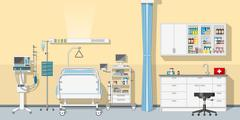 Illustration an intensive care unit Stock Illustration