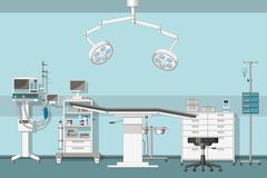 Illustration of a operating room Stock Illustration