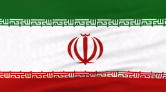 National flag of Iran flying on the wind Stock Footage