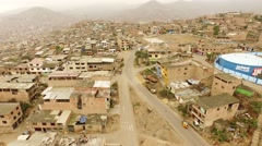Flying over Slums in Lima, Peru. South America. Stock Footage