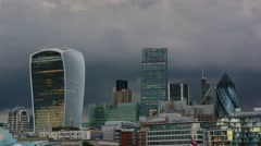 Timelapse of clouds with London Skyline. Stock Footage