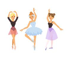 Ballerina dancer vector girl Stock Illustration
