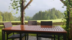 View of summer rain. Stock Footage