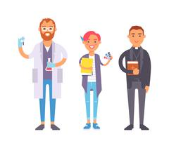 People professions vector set - stock illustration