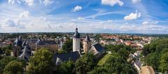 Aerial View Altenburg Thuringia Castle old medieval town Stock Photos