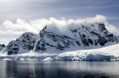 Antarctica - Fairytale landscape in a sunny day Stock Photos