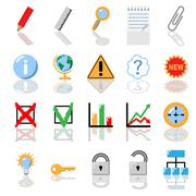 Textbook icons for print without gradients vector illustration. Stock Illustration