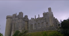 A medieval castle in England Stock Footage