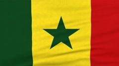 National flag of Senegal flying on the wind Stock Footage