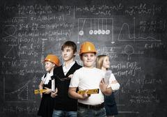 Choosing future profession Stock Photos