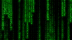 Matrix code rain partial mid 15 seconds Stock Footage