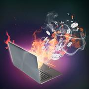 Computer damage Stock Illustration