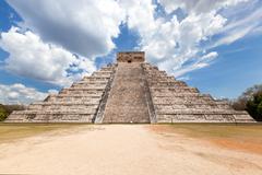 El Castillo (The Kukulkan Temple) of Chichen Itza, Mexico - stock photo