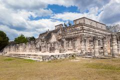 Temple of the Warriors at Chichen Itza, Yucatan, Mexico Stock Photos