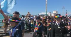 Brighton police at gay pride Stock Footage