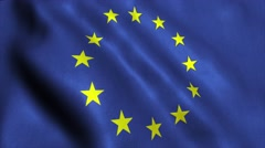EU European Union flag video animation - stock footage