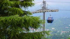 Aerial Tramway Cable Car Passing By Stock Footage