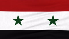 National flag of Syria flying on the wind Stock Footage