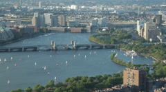 Sailing on the Charles River in Boston Stock Footage
