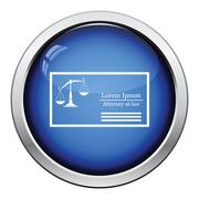 Lawyer business card icon Stock Illustration