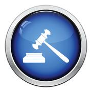 Judge hammer icon Stock Illustration