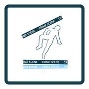 Crime scene icon Stock Illustration