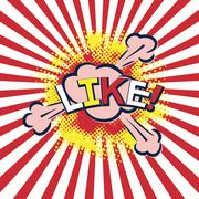 Word like in popart style Stock Illustration