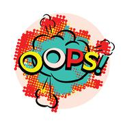OOPS bright pop art style Stock Illustration