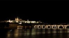Night Prague Stock Footage