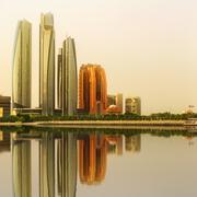 Abu Dhabi Skyline and Al Bateen marina, UAE Stock Photos