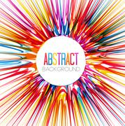 Colorful abstract burst Stock Illustration