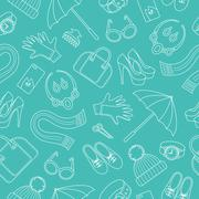 Seamless pattern with women s accessories Stock Illustration