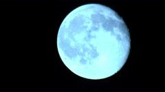 Fullmoon Telescope Shot 11 4K Stock Footage
