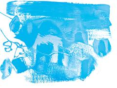 Blue Color Paint Stock Photos