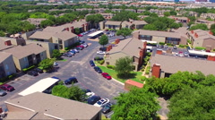 Fly Low Over Apartment Complex Stock Footage