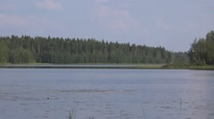 Lake in the central Finland (Savo province) Stock Footage