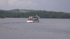 Pleasure motorship Elviira on a cruise along the Saimaa Lake Stock Footage