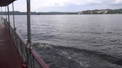 Passenger steamship Punkaharju. View from the upper deck Stock Footage