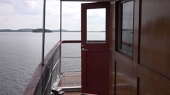 Passenger steamship Punkaharju. The upped deck Stock Footage