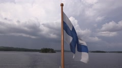 Steamship Punkaharju's ensign Stock Footage
