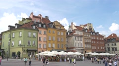 View of Warsaw's Old Town. Stock Footage