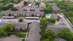 Fly Over Apartment Complex Stock Footage