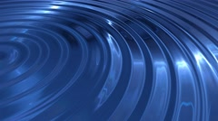 Ripple light waves blue abstract background Stock Footage