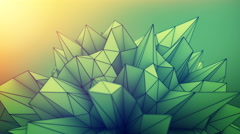 Abstract polygonal shape loopable 3D render animation 4k UHD (3840x2160) Stock Footage