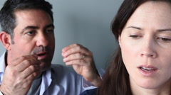 Unhappy couple arguing Stock Footage