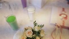 Wedding bridal bouquet. Wedding flowers Stock Footage