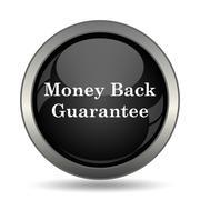 Money back guarantee icon. Internet button on white background. . - stock illustration